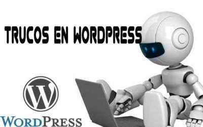 Trucos en WordPress